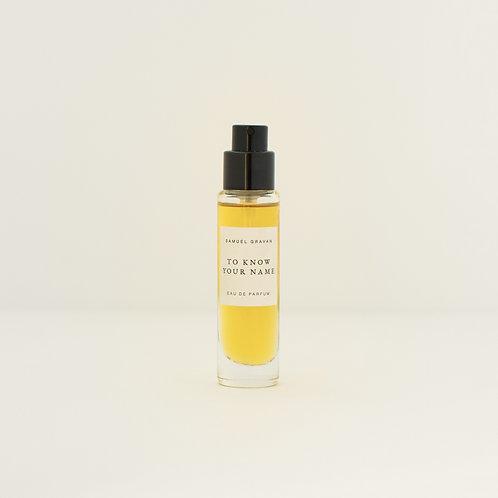 To Know Your Name   Eau de Parfum (10ml)