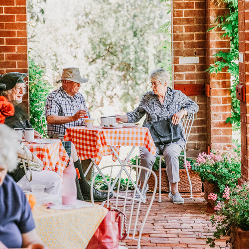 Devonshire teas on the veranda of beaumo