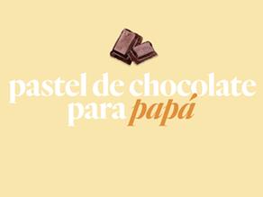 Pastel de chocolate para papá