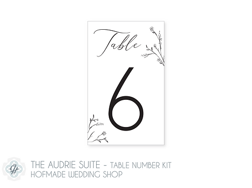 The Audrie Suite - Table Number Kit