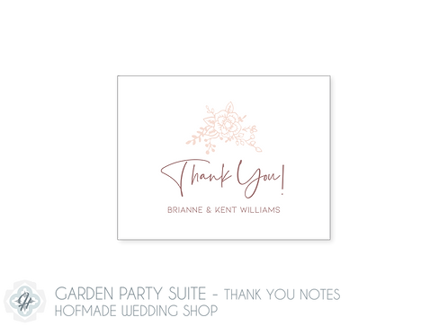 Garden Party Suite- Folded Thank You Cards