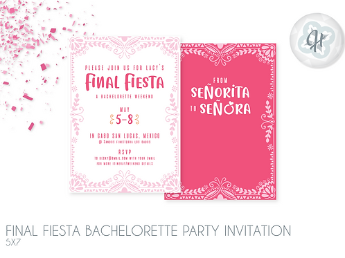Final Fiesta - Bachelorette Party Invitations