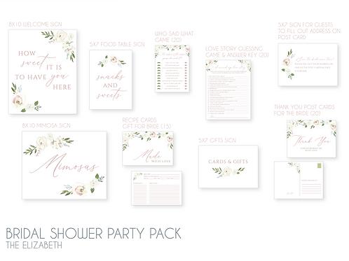 Bridal Shower Party Pack - The Elizabeth
