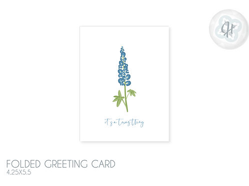 Texas Bluebonnet Greeting Card