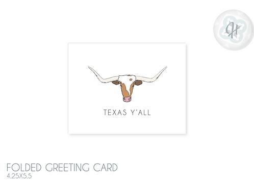 Texas Y'all Longhorn Card