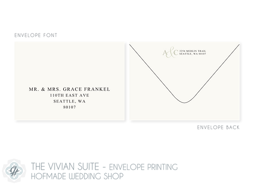 The Vivian Suite - Envelope Printing