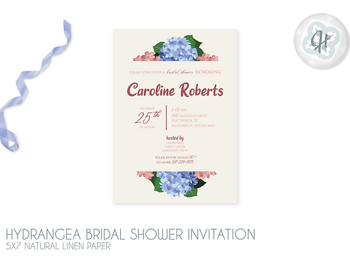 Hydrangea - Bridal Shower Invitations
