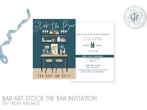 Bar Art - Stock the Bar Invitations