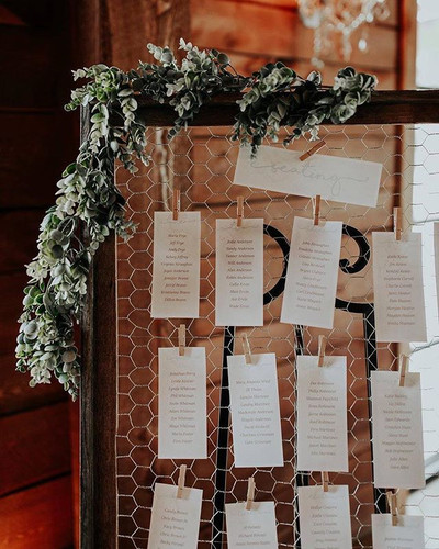 Simple and sweet wedding seating chart.j
