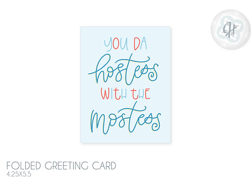 Hostess Card