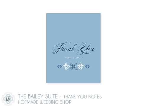 The Bailey Suite- Folded Thank You Cards
