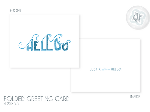 """A Wave Hello"" Greeting Card"