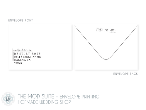 The Mod Suite - Envelope Printing