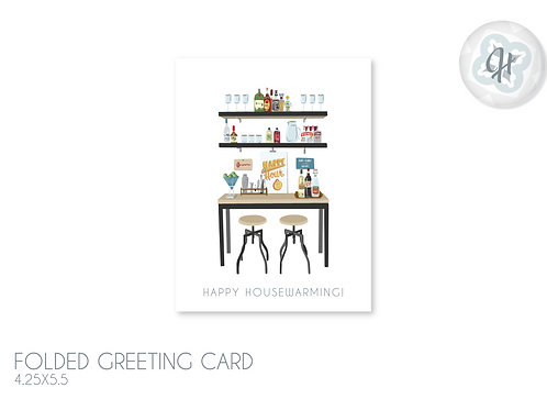 Mod Bar Housewarming Card