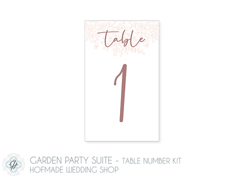 Garden Party Suite - Table Number Kit