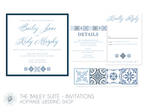 The Bailey Suite - Wedding Invitations