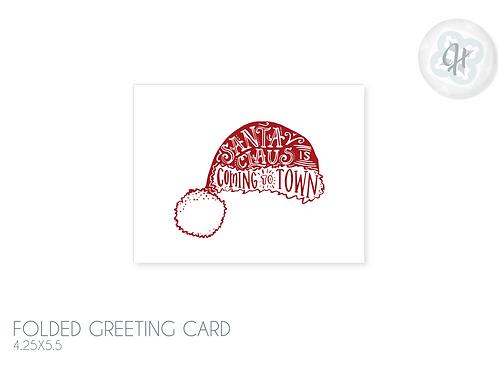 Santa Had Typography Card