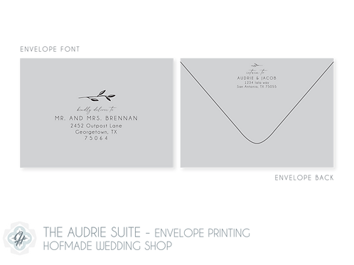 The Audrie Suite - Envelope Printing