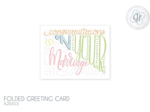 Marriage Typography Card