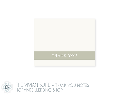 The Vivian Suite - Folded Thank You Cards