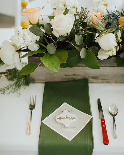 For each place setting I included a trif