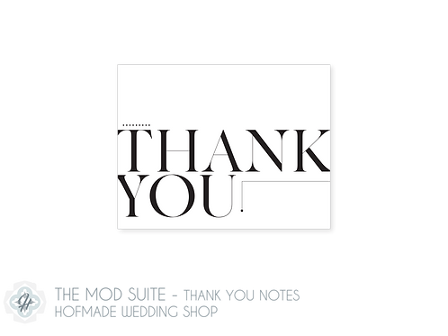 The Mod Suite- Folded Thank You Cards