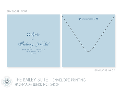 The Bailey Suite - Envelope Printing
