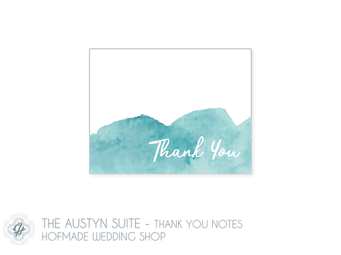 The Austyn Suite- Folded Thank You Cards