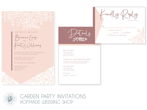 The Garden Party Suite - Wedding Invitations