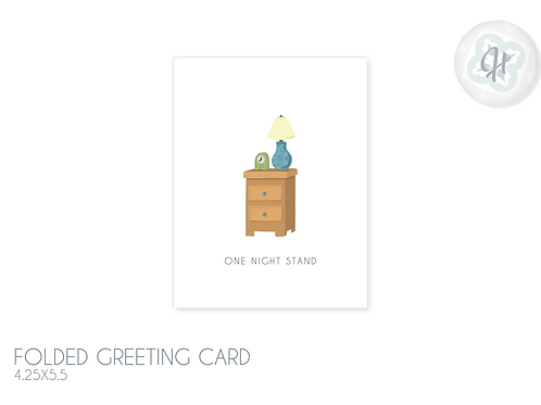 One Night Stand Greeting Card