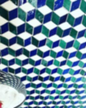 #shower #mosaique #paumededouche #mosaic
