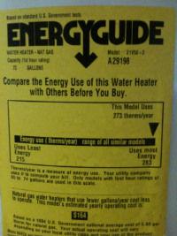 Energy Factor EnergyGuide
