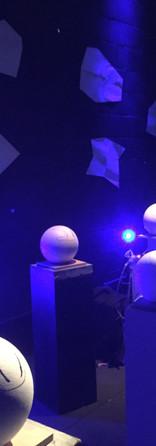 The setup: six orbs, six screens