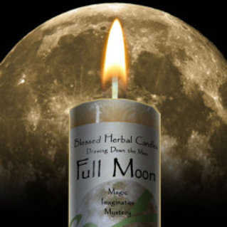 Candle Drawing Down the Moon Full Moon