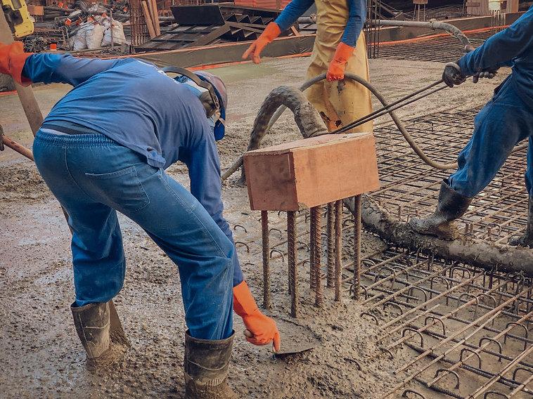 Recuperação concretagem de concretos esp