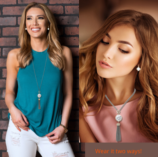 YOU ROCK MY WORLD! NECKLACE & EARRINGS SET TWO-TONE / Exclusive Nonprofit price: $150/ Value: $600