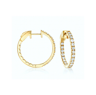 """DAZZLE ALL DAY 1"""" IN YELLOW GOLD"""