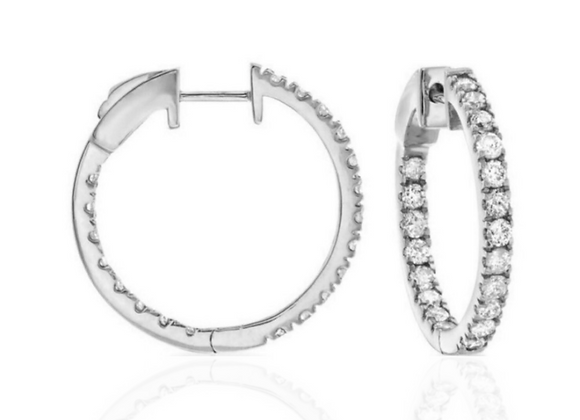 """Dazzle All Day 1"""" in White Gold"""