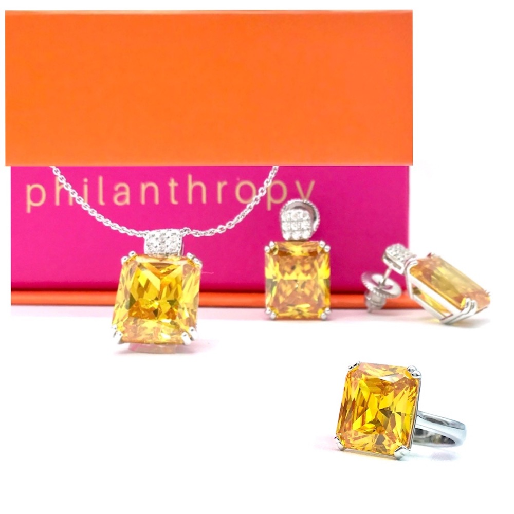 Striking Citrine Set with Ring