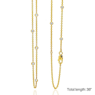"""LOVE AT FIRST SPARK 36"""" IN YELLOW GOLD/ Exclusive Nonprofit Price: $100/ Value: $400"""
