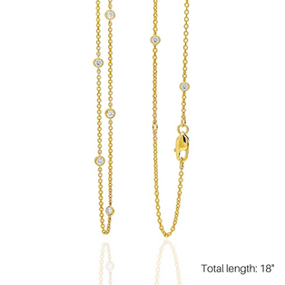 """LOVE AT FIRST SPARK 18"""" IN YELLOW GOLD/ Exclusive Nonprofit Price: $60/ Value $250"""