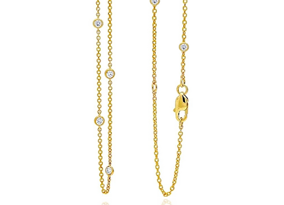 """Love at First Spark 18"""" in Yellow Gold"""