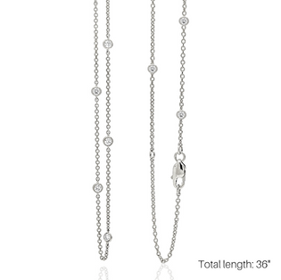 """LOVE AT FIRST SPARK 36"""" IN WHITE GOLD/ Exclusive Nonprofit Price: $100/ Value $400"""