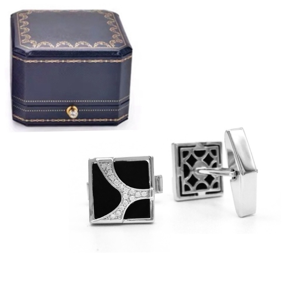 CLASSIC Sterling & Black Onyx Cufflinks