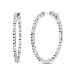 """DAZZLE ALL DAY 1.5"""" IN WHITE GOLD"""