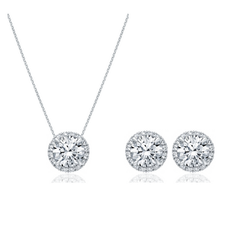 Modern Classic Set in White Gold