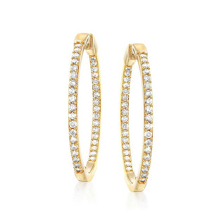 """DAZZLE ALL DAY 1.5"""" YELLOW GOLD/ Exclusive Nonprofit Price: $120/ Value: $500"""