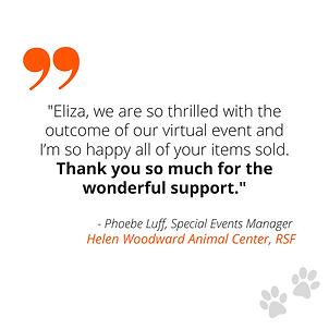 testimonial from Helen Woodward Animal C