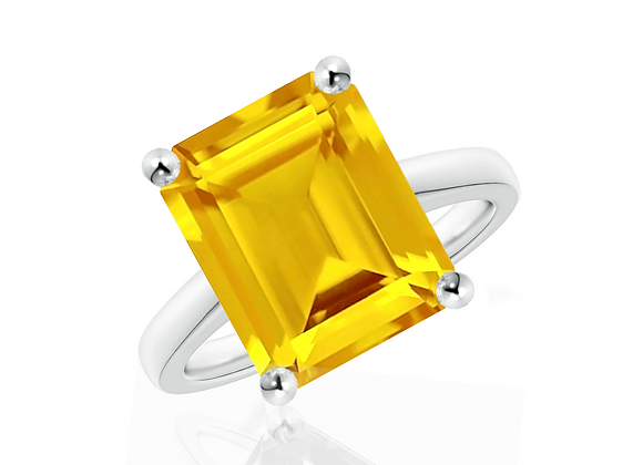 Citrine Cocktail Ring in Size 7