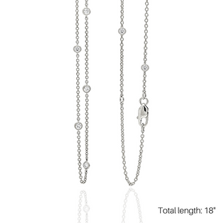 """LOVE AT FIRST SPARK 18"""" IN WHITE GOLD/ Exclusive Nonprofit Price: $60/ Value $250"""